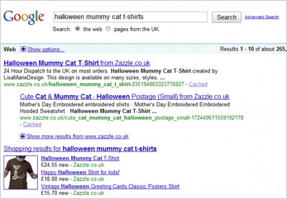 Halloween Mummy Cat T-Shirt Top of Google Search