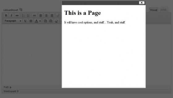 Example Modal Dialogue For Example TinyMCE Button