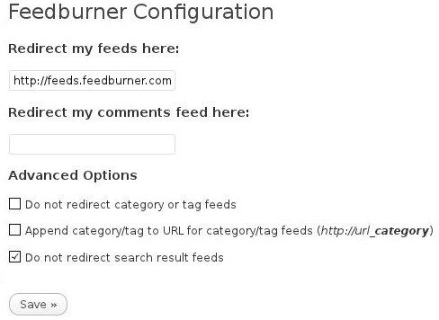 Redirecting your WordPress feeds to FeedBurner feeds via the FD Feedburner plugin