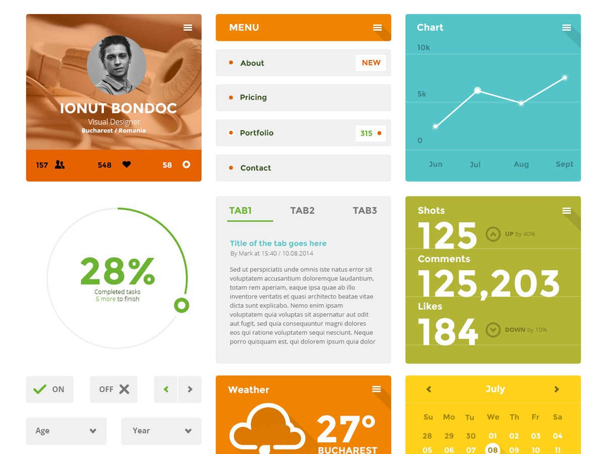 coloristico-flat-ui-kit-ionut-bondoc-dribbble