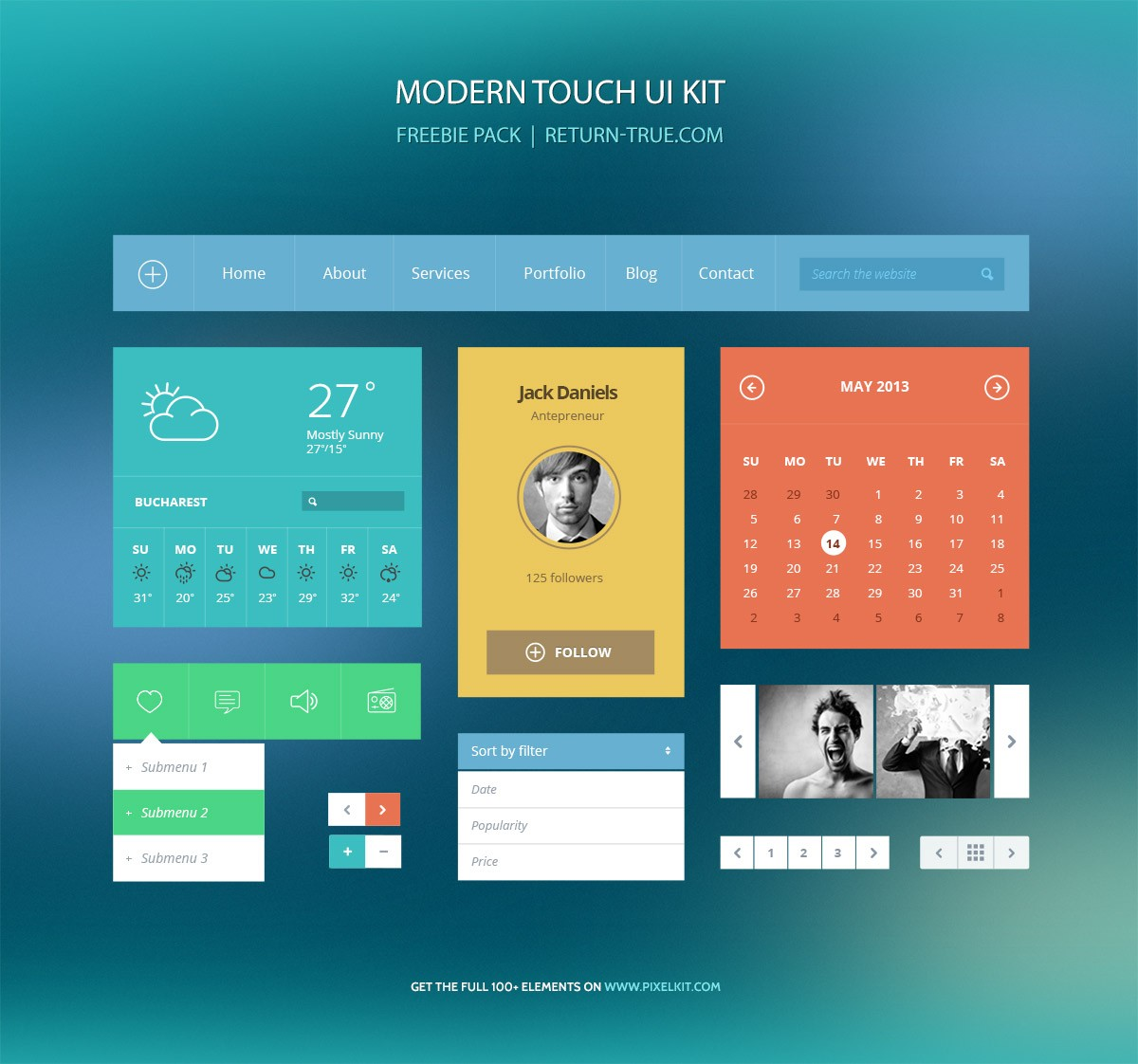 modern-flat-ui-return-true-pixelkit-freebie-preview-image