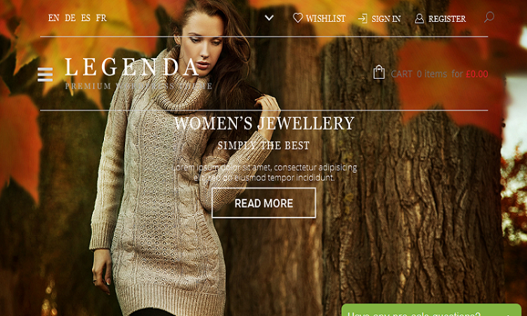 Legenda WordPress Theme By 8Theme