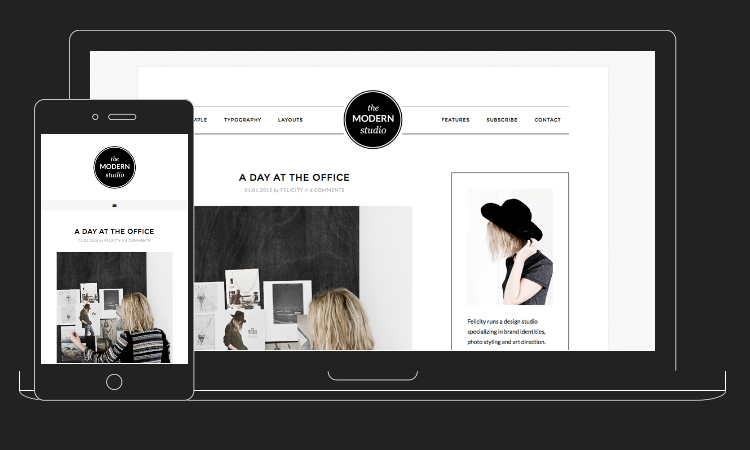 Modern Studio WordPress Theme by StudioPress